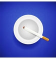 Cigarette and Ashtray vector image vector image