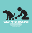 Clean Up After The Dog Symbol vector image vector image