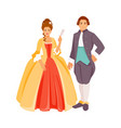 clothing of the 18th century vector image vector image