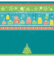 color christmas card with pine vector image