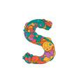 colorful ornamental alphabet letter s font vector image