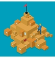 Delivery Service Isometric Concept vector image vector image