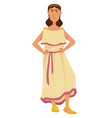 demeter ancient greek goddess grain agriculture vector image vector image