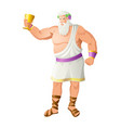 dionysus the god of the grape harvest vector image