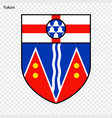 emblem of yukon province of canada vector image vector image