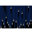 Falling digital styled snowflake streams vector image