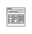 financial statements line icon concept financial vector image vector image