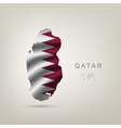 flag of Qatar as a country vector image vector image