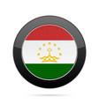 flag of tajikistan shiny black round button vector image vector image
