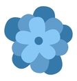 Flower icon nature flat vector image vector image