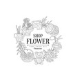 flower shop vintage sketch vector image