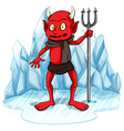 Freezing man with a fork vector image vector image