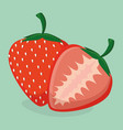 fresh strawberry fruit healthy food vector image
