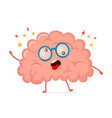 funny cute crazy mad sick brain vector image vector image