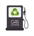 gas station recycle envioment nature energy design vector image vector image