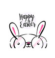 happy easter greeting card background with cute vector image