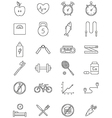 healthy life icons set vector image