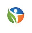 healthy life logo icon vector image
