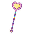 heart shape wand vector image