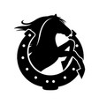 horse and horseshoe vector image vector image