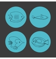 icon set over circles Sea life design vector image
