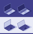 isometric laptop in light and dart theme flat vector image vector image