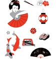 Japanese set vector image vector image