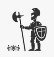 knight guardian heraldry character vector image vector image