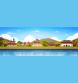 korea palaces on river landscape south korean vector image vector image