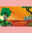 landscape - sunrise in the desert vector image vector image
