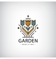 linear logo Garden flowers in modern vector image