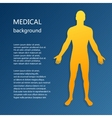 medical background abstract model man vector image