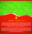 merry christmas greeting paper vector image vector image