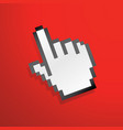 mouse hand icon red vector image vector image