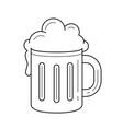 mug of beer line icon vector image vector image