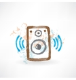 music speakers grunge icon vector image vector image