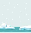 north pole arctic in the ocean vector image vector image