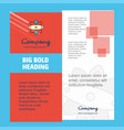 nuclear company brochure title page design vector image