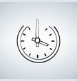 old horologe ticker timekeeper ui emblem on white vector image