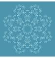 Ornate flower pattern on blue background vector image