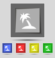 Palm Tree Travel trip icon sign on the original vector image vector image