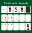Playing cards Diamonds vector image vector image