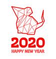 polygonal rat design for chinese new year vector image vector image