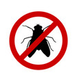 prohibition sign for flies on white vector image vector image