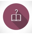 QUESTIONS BOOK icon vector image vector image