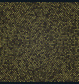 radial golden halftone patter gold luxury vector image