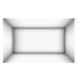 rectangular empty room with shaded white walls vector image vector image