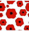 Red Poppies Flower Seamless Pattern Background vector image vector image
