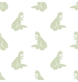 Seamless background Cute dinosaurs vector image vector image