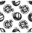 seamless pattern with black and white grilled vector image vector image